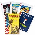 Vintage Travel USA Playing Cards - Baraja Viaje USA